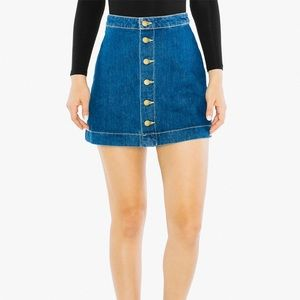 American Apparel Button Front A-Line Mini Skirt